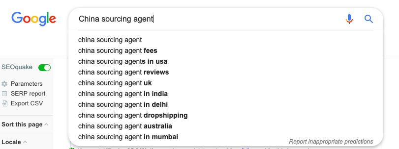 谷歌搜索建议