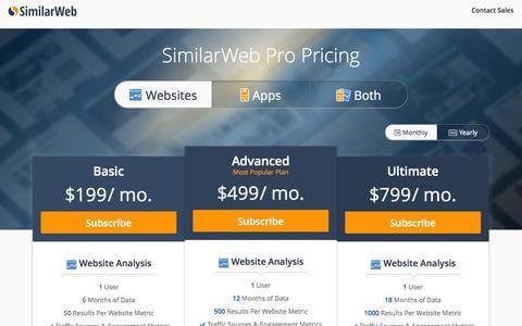 SimilarWeb价格