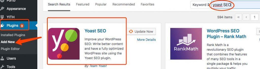 Wordpress的插件:Yoast SEO