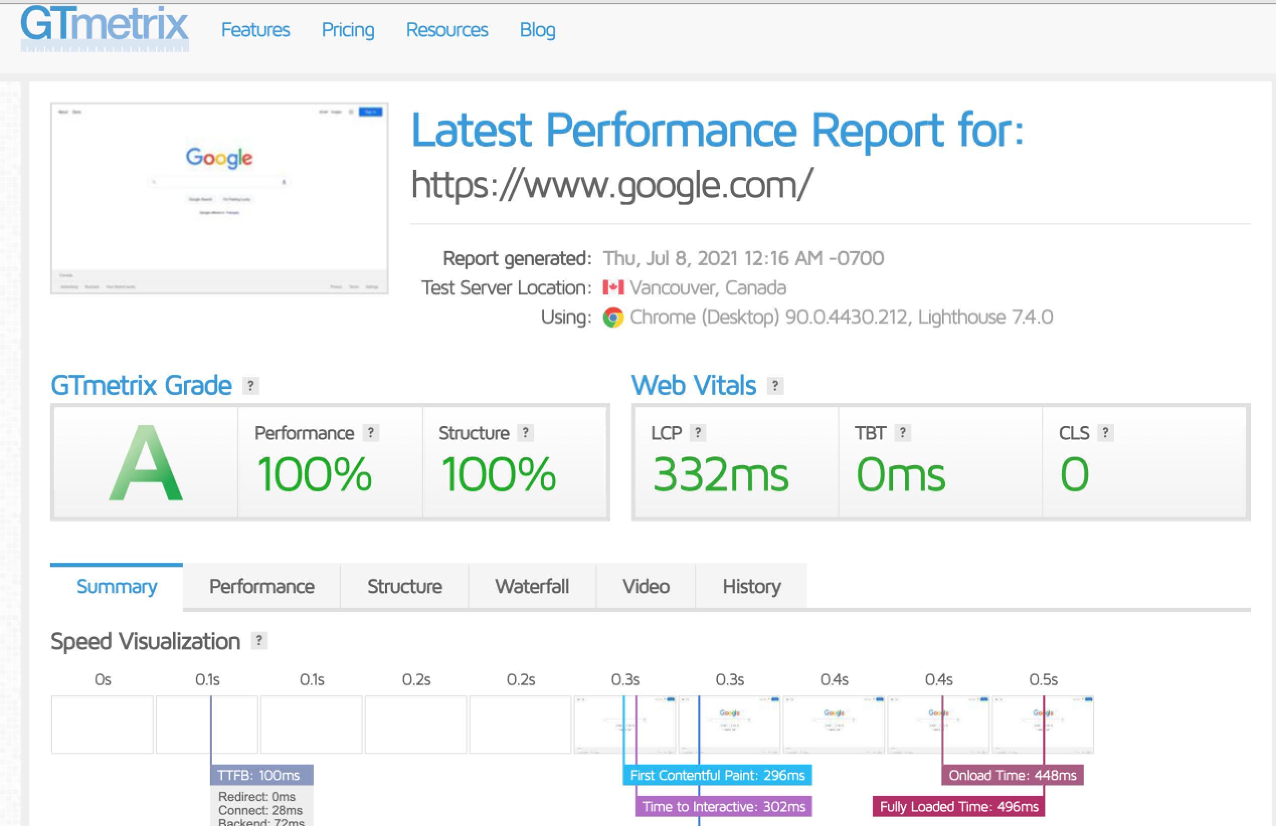 谷歌网站速度测试工具